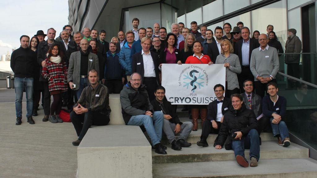 Teilnehmerfoto der internationalen Kryonikkonferenz von CryoSuisse im Nov. 2016 in Basel